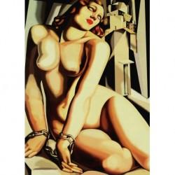 Tela Lempicka Art 02 cm 50x70 Papiarte Stampa su tela Canvas da falso d'autore