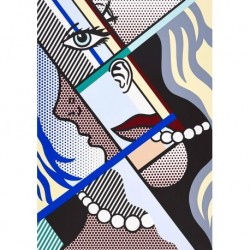 Tela Lichtenstein Art 05 cm 50x70 Papiarte Stampa su tela Canvas da falso d'autore