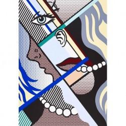 Tela Lichtenstein Art 05 cm 70x100 Papiarte Stampa su tela Canvas da falso d'autore