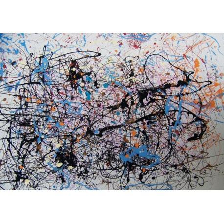 Tela Pollok Art 02 cm 50x70 Papiarte Stampa su tela Canvas da falso d'autore