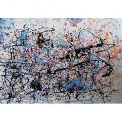 Tela Pollok Art 02 cm 70x100 Papiarte Stampa su tela Canvas da falso d'autore
