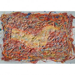 Tela Pollok Art 04 cm 35x50 Papiarte Stampa su tela Canvas da falso d'autore