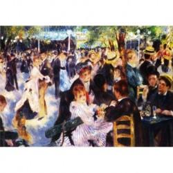 Tela Renoir Art 01 cm 50x70 Papiarte Stampa su tela Canvas da falso d'autore