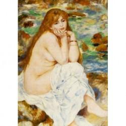 Tela Renoir Art 07 cm 50x70 Papiarte Stampa su tela Canvas da falso d'autore