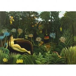Tela Rousseau Art 01 cm 50x70 Papiarte Stampa su tela Canvas da falso d'autore