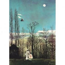 Tela Rousseau Art 02 cm 70x100 Papiarte Stampa su tela Canvas da falso d'autore