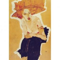 Tela Schiele Art 02 cm 35x50 Papiarte Stampa su tela Canvas da falso d'autore