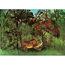 Tela Rousseau Art 03 cm 70x100 Papiarte Stampa su tela Canvas da falso d'autore