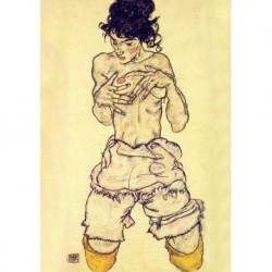 Tela Schiele Art 03 cm 35x50 Papiarte Stampa su tela Canvas da falso d'autore