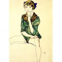 Tela Schiele Art 04 cm 35x50 Papiarte Stampa su tela Canvas da falso d'autore