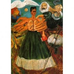 Poster Frida Art 04 cm 70x100 Papiarte stampa da falso d'autore