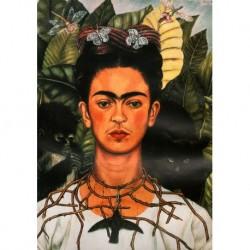 Tela Frida Art 01 cm 35x50 Papiarte stampa da falso d'autore
