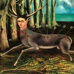 Tela Frida Art 02 cm 35x35Papiarte stampa da falso d'autore