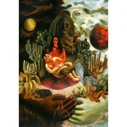 Tela Frida Art 03 cm 50x70 Papiarte stampa da falso d'autore